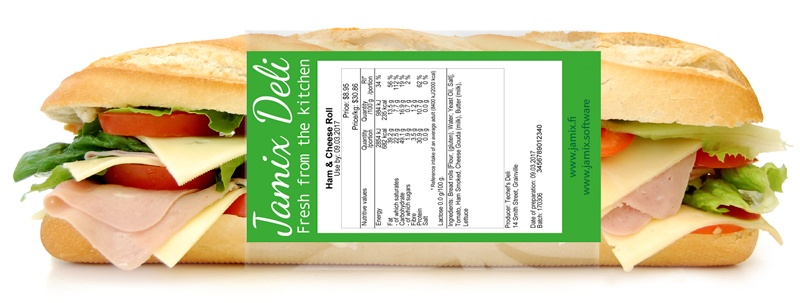 Print food labels directly from your recipe with JAMIX Kitchen Intelligence System