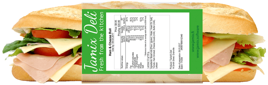 Food Labelling directly from your recipe - JAMIX Kitchen Intelligence System
