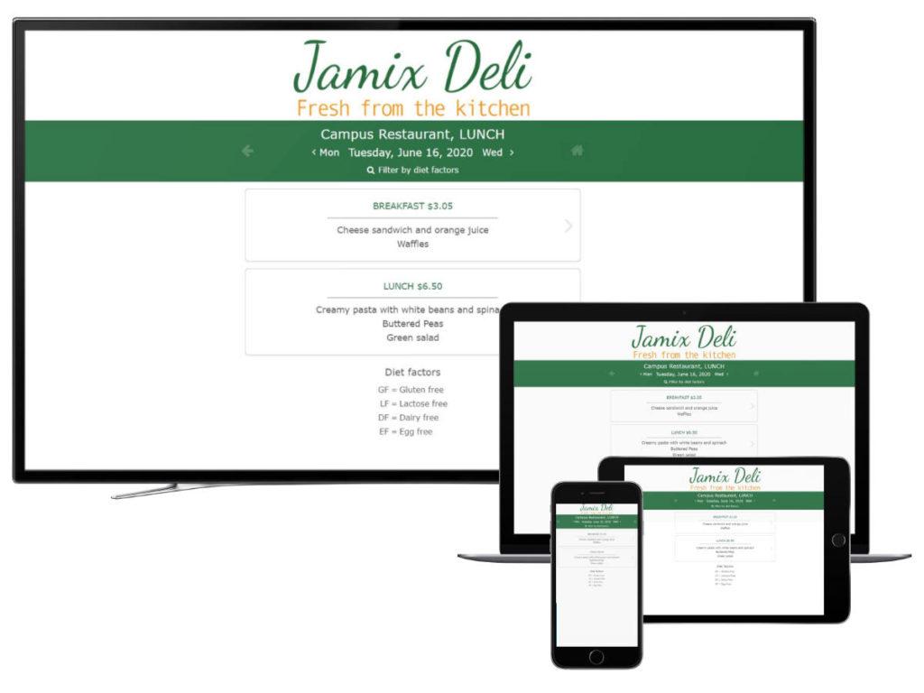 JAMIX MENU E Menu Online